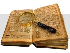 books and magnifying glass photo: Open Book with Magnifying Glass bookwithlookingglass.jpg
