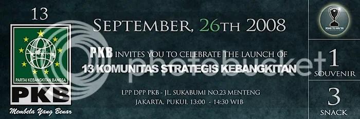 Invitation Design - Peluncuran 13 Komunitas Strategis Kebangkitan