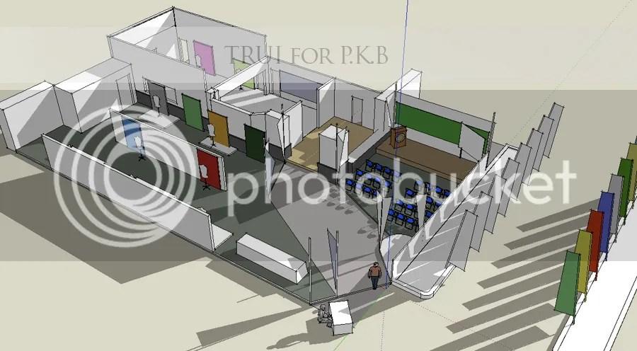 Sketsa Awal Layout Galeri 13 - PKB