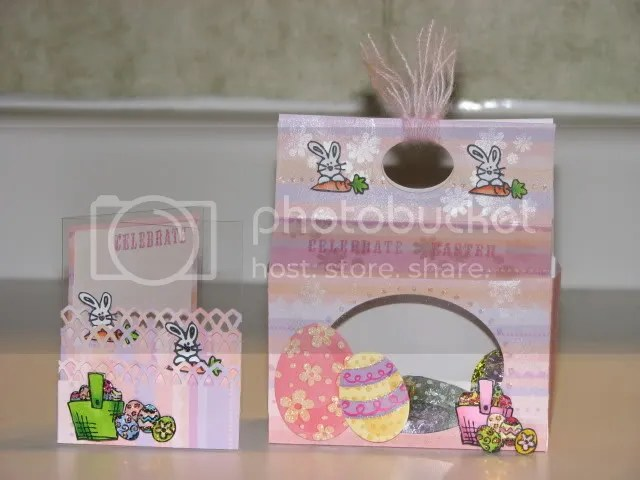 SGC5 Easter treat holder with coordinating acetate card