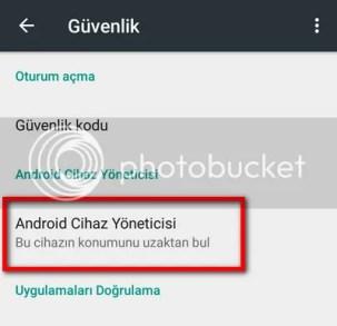 android cihaz yoneticisi