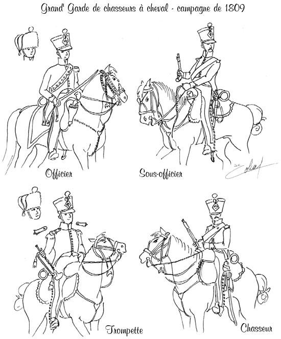 Chasseurs à cheval en grand' garde