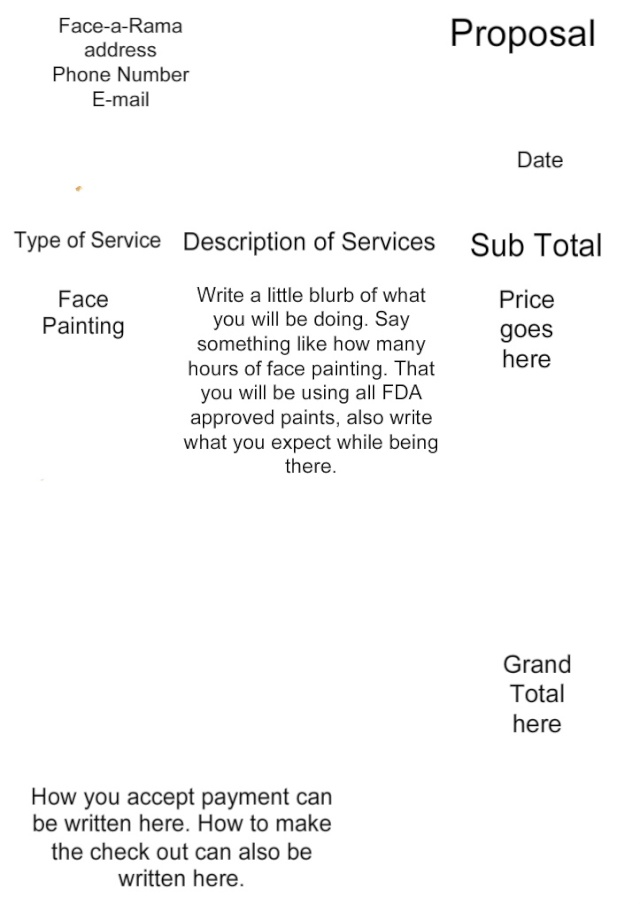 Painting Bid Template Demirediffusion