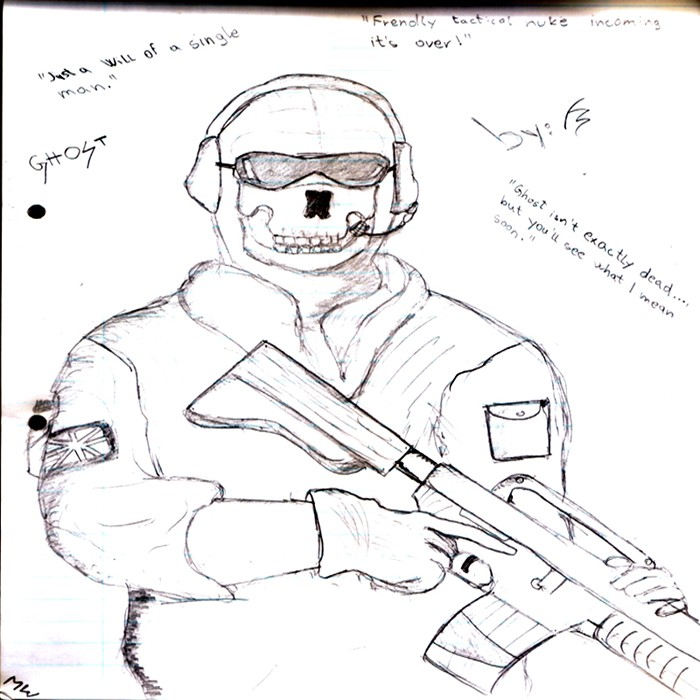 Free call of duty ghost logo coloring pages