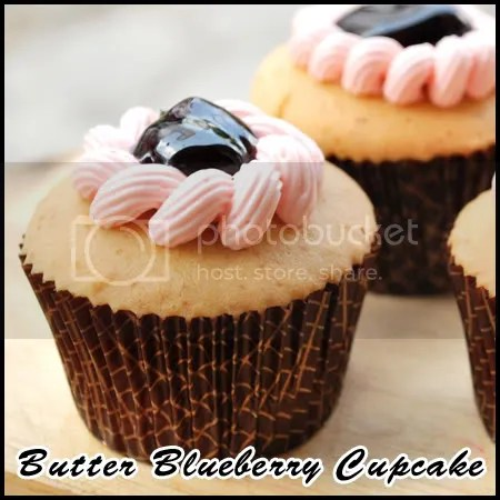 Butter Blueberry Cupcake