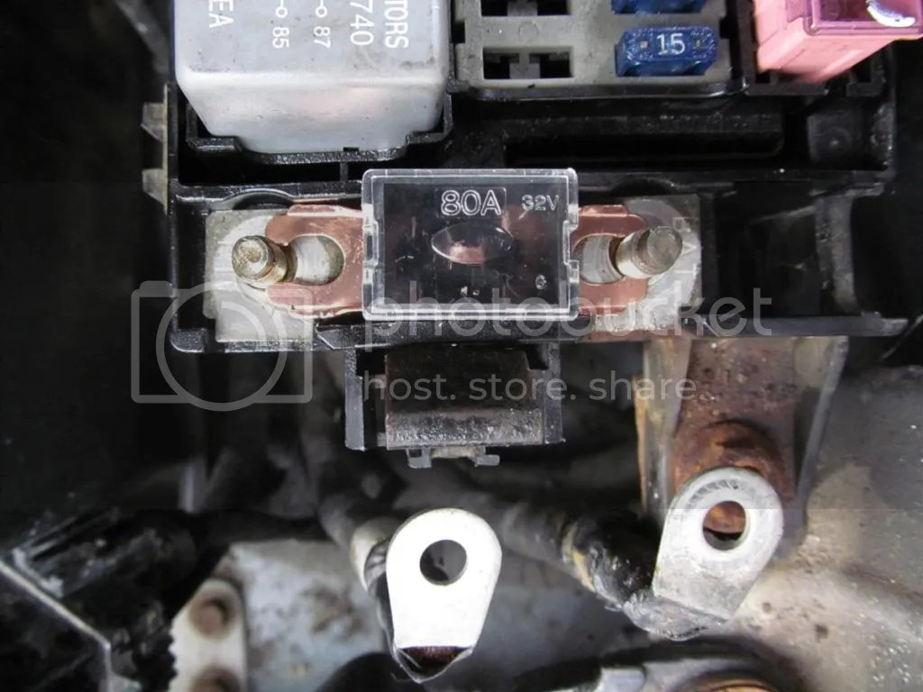 Ford 1g Alternator Wiring Diagram 80a Alternator Fuse Kia Forum