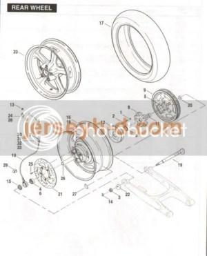 Rear wheel exploded diagram  1130cc: The #1 Harley