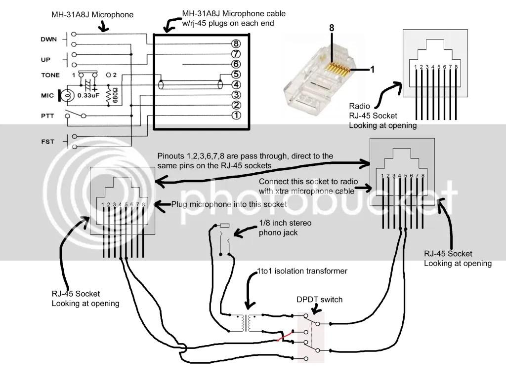 yaesu 8 pin mic wiring