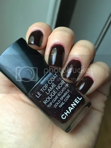 Le Top Coat Lamé Rouge Noir
