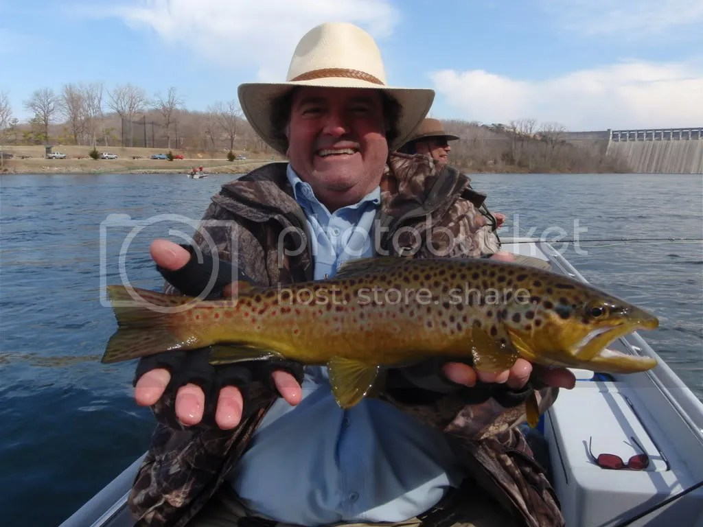 Jim with a beautiful White River brown. Look at those spots