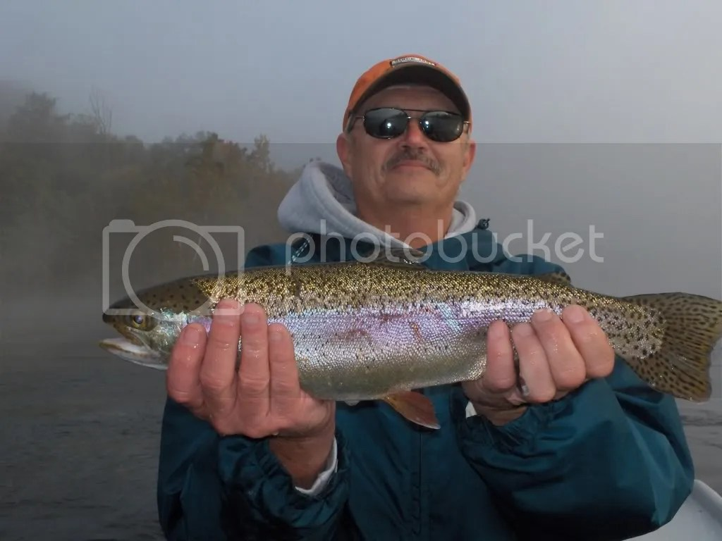 Skip and a hefty White River Rainbow