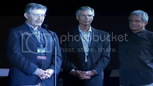 Tom Williams(USO CEO), Barry Meyers (Warner Bros CEO), and Ron Meyers (USO President) speak... not in order and I hope I'm right about names