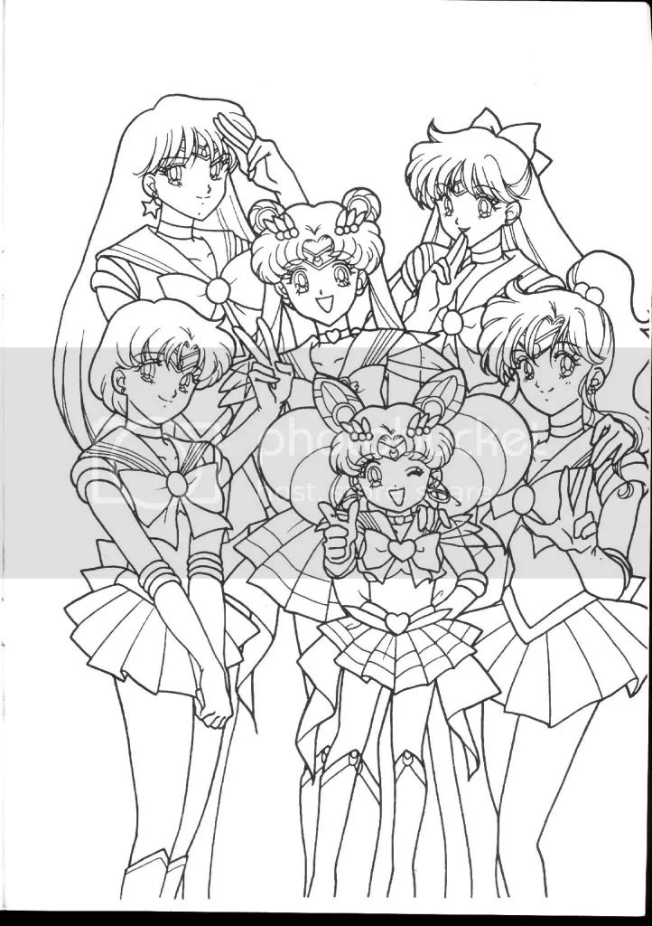 Printable Coloring Pages: Coloring Page For Sailor Moon