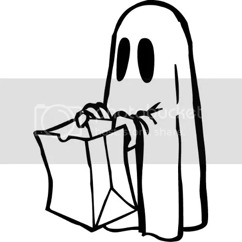 Coloring Ghost Halloween Picture