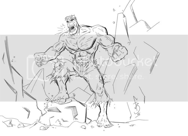 Coloring Pages For Girls: Incredible Hulk Free Coloring Pages