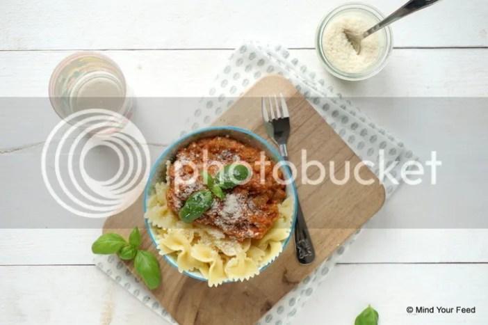 pastasaus met veel groenten
