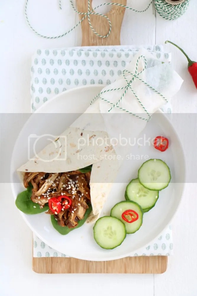 Indonesische pulled chicken