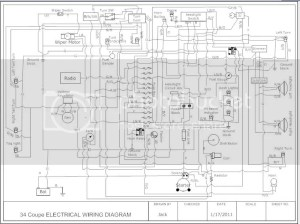 Drew up a simple hotrod electrical diagram | The HAMB