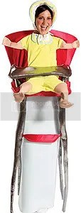 Adult Baby in High Chair Halloween Costume