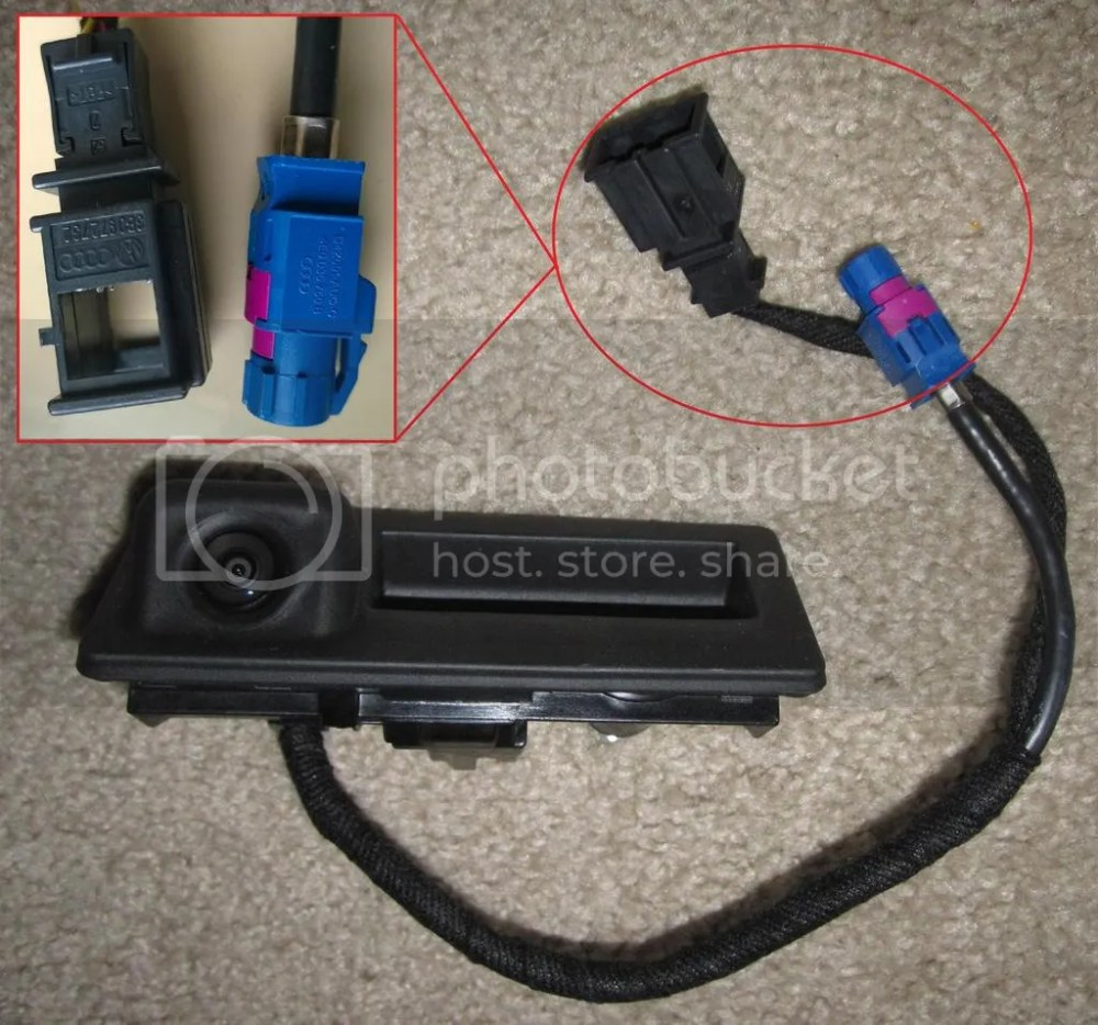 medium resolution of oem vw rear view camera