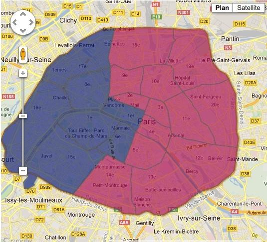 François Hollande est au dessus des 60 % dans 10e, le 11e, le 18e, le 19e et le 20e arrondissement. Son record est dans le 20e où il réalise 71,83 % des voix. Nicolas Sarkozy, lui, fait le plein chez les bourges du 16e, où il amasse 78,01 % des voix !  Un candidat urbain  Le discours et le ton du Président a séduit également dans l'ensemble des grandes villes dans lesquelles nous visons. François Hollande a plus à 62,39 % des électeurs à Lille, 61,53 % à Nantes, 62,54 % à Toulouse, 54,70 % à Strasbourg, 57,18 % à Bordeaux, 53,12 % à Lyon, et même à Marseille (la ville la moins bobo de France) où le nouveau président a réalisé 50,87% des voix .