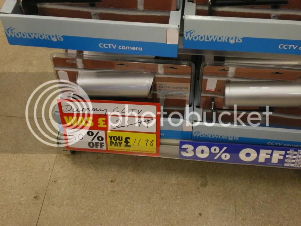 Half price fake CCTV cameras - bargain!