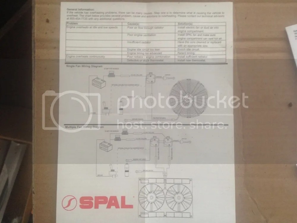 medium resolution of spal fan wiring diagram single wiring libraryfollowing accessories a 195 degree spal wiring harness kit