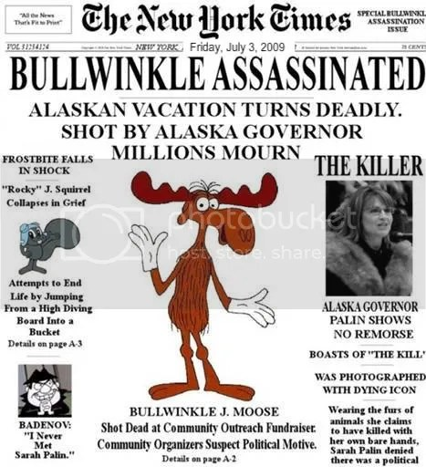 Governor Palin Killed Bullwinkle