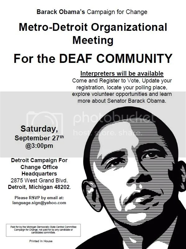 Deaf Volunteers for Obama