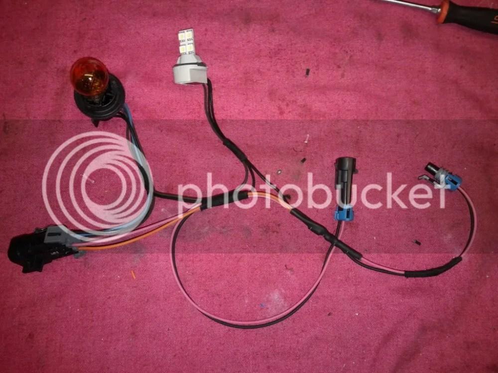 medium resolution of custom cobalt headlight highbeam shutter harness img