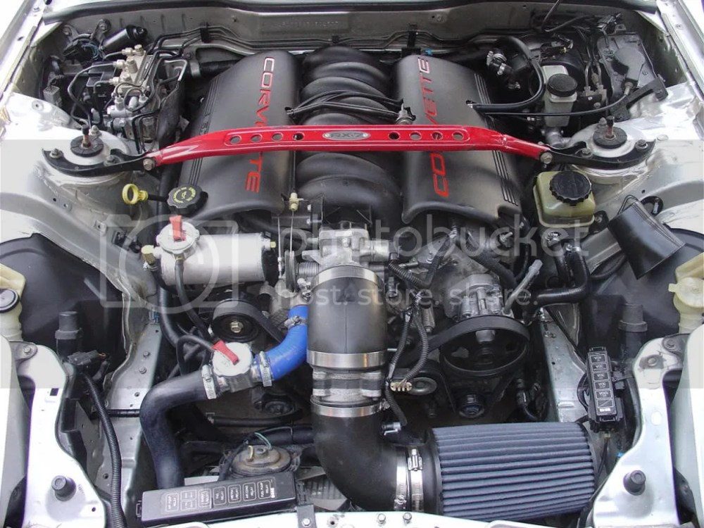 medium resolution of here is a picture of what i did with my old car custom but an option with the stock laydown radiator