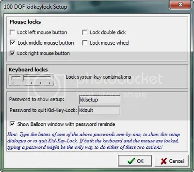 Cách khoá bàn phím và chuột