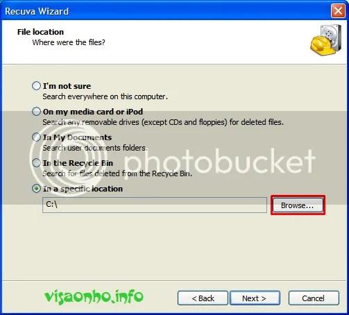 Sử dụng Recuva để phục hồi file đã xoá