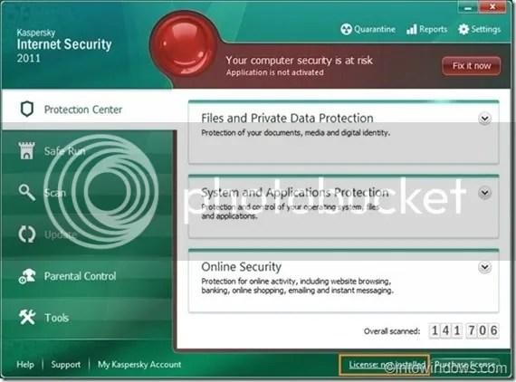 Cách kích hoạt Kaspersky Internet Security 2011 offline với key file