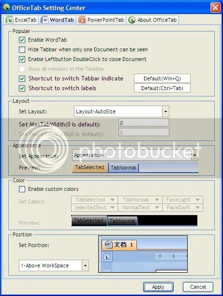 Đưa tính năng tab vào Microsoft Office 2010, 2007 và 2003