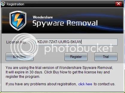 Bản quyền Wondershare Spyware Removal miễn phí 6 tháng