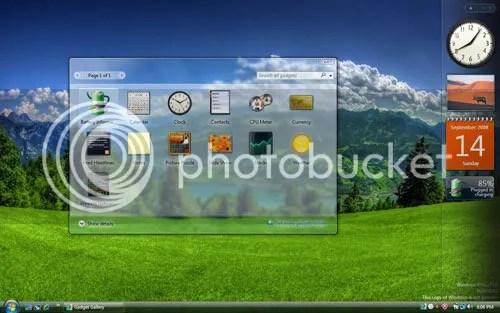 Vista Rainbar: Vista Sidebar tốt nhất cho Windows XP