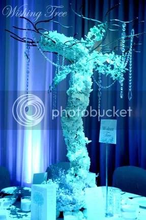 arbre à voeux fleurs