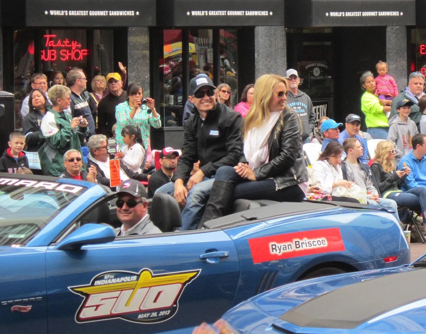 Ryan Briscoe, Indianapolis, 500, 500 Festival Parade, Indianapolis, 2013