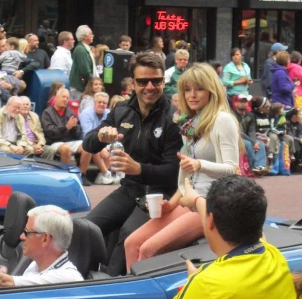 Oriol Servia, Indianapolis, 500, 500 Festival Parade, Indianapolis, 2013