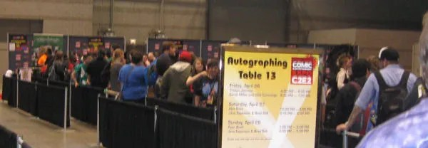 Jason David Frank autograph line, C2E2