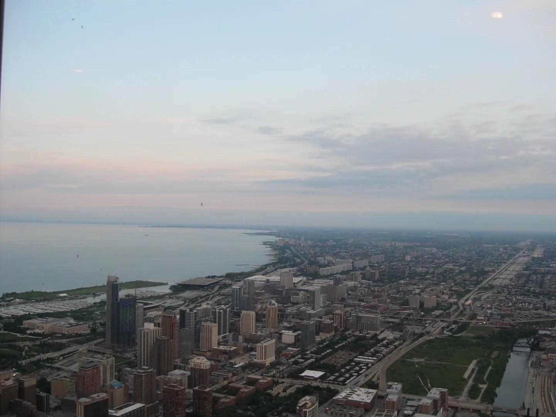 Willis Tower view, Lake Michigan, Chicago