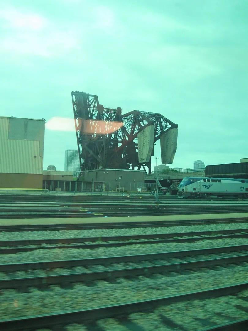 train view, Riverside, Chicago