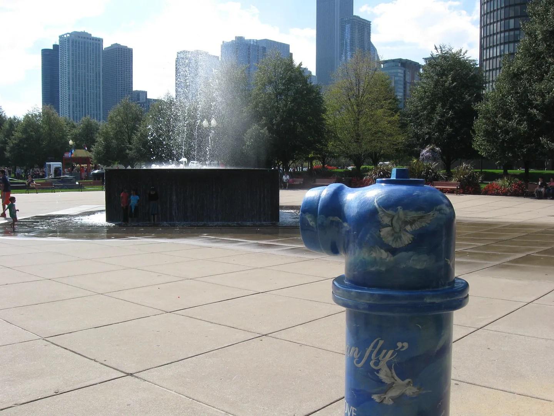 fountain, hydrant, Chicago