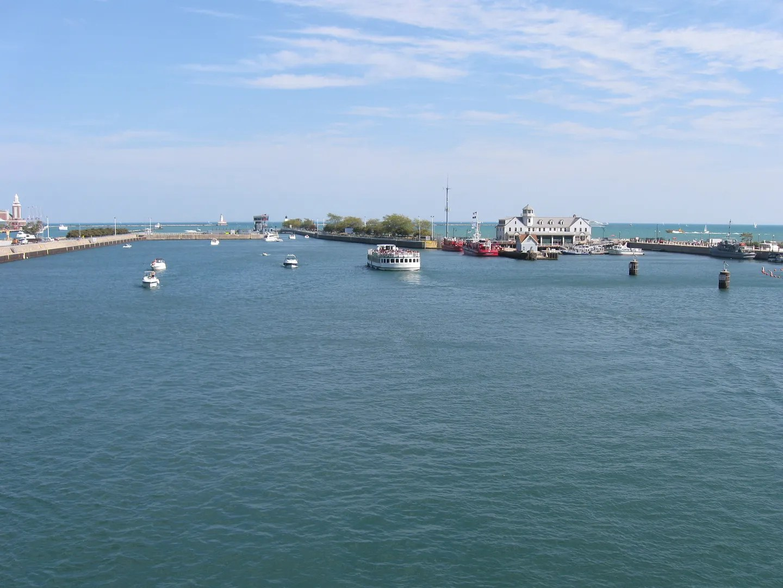 boats, Lake Michigan, Chicago