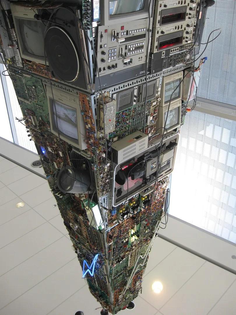 TV radio pyramid pileup