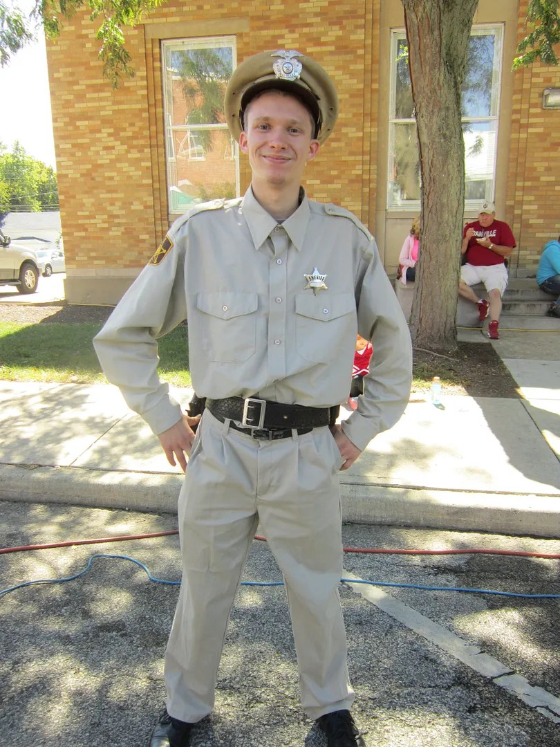 Deputy Barney Fife, Andy Griffith Show, cosplay, Danville, Indiana