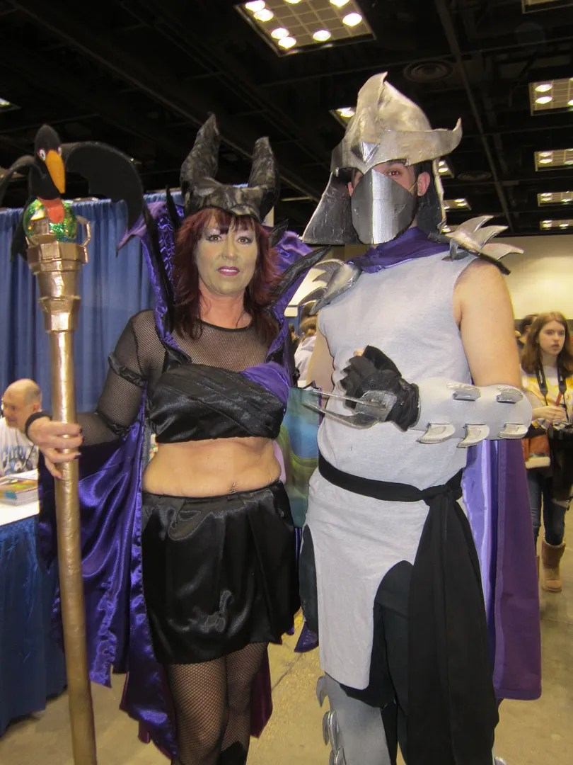 Maleficent, Shredder, costumes, Indiana Comic Con 2014, Indianapolis