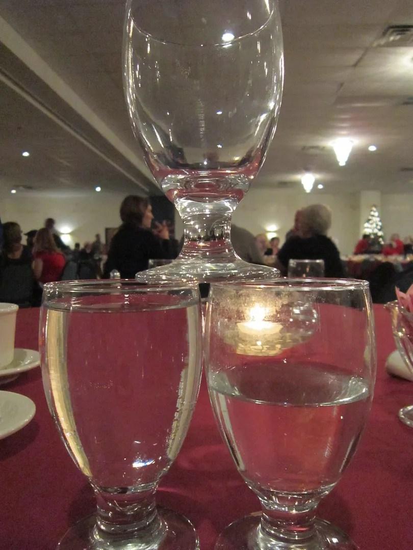 water glass pyramid