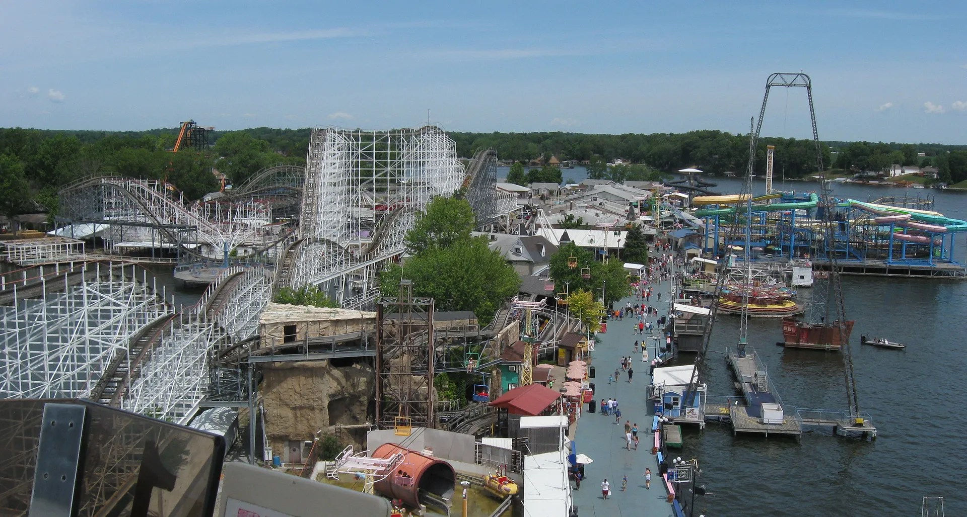 Indiana Beach overhead shot